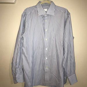 Ermenegildo Zegna Striped Button Down Dress Shirt